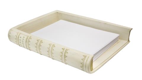 Лоток для бумаг белый