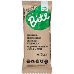 """Батончик Фруктово-ореховый """"Bite"""" Морковь-Кешью (Контроль веса) 45 г"""