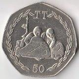 K6652, 1984, остров Мэн, 50 пенсов Мотогонки