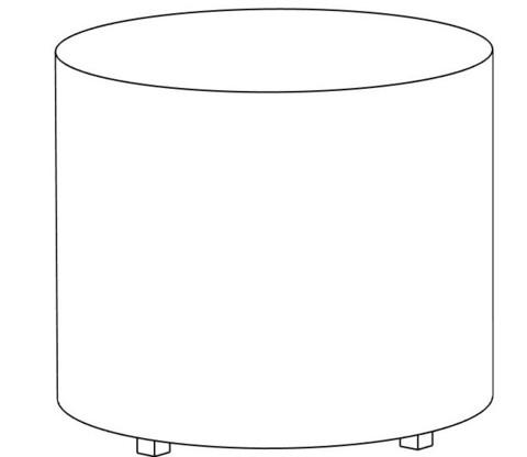 Пф-03 Пуфик круглый (белый) для дома и магазина