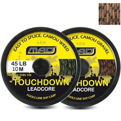 Лидкор MAD TOUCHDOWN Lead Core / 10m / 45lb - Camo Weed