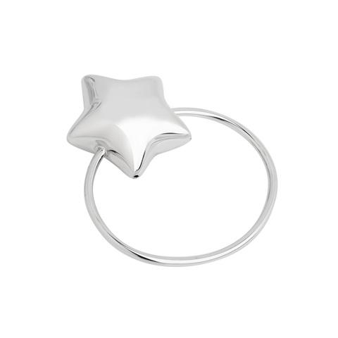 Серебряная погремушка «Звезда»