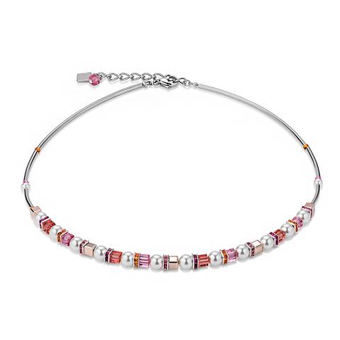 Колье Coeur de Lion 4815/10-0400 цвет белый, розовый, оранжевый