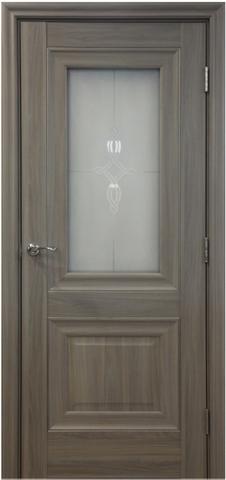 Дверь №28Х стекло узор (орех пекан, остекленная экошпон), фабрика Profil Doors