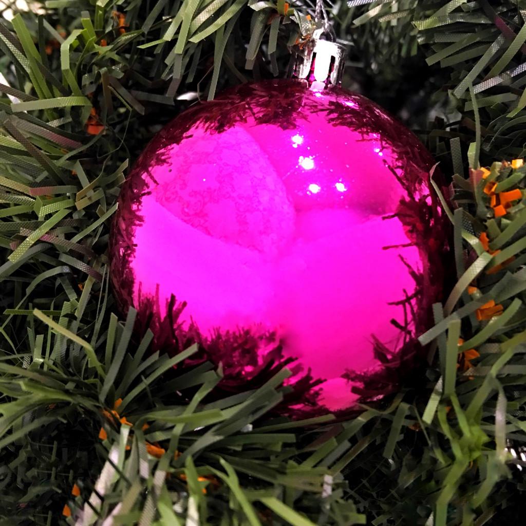 Глянцевые ёлочные шары 6 см, 6 шт