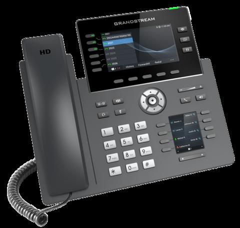 Grandstream GRP2616 - IP телефон. 6 SIP аккаунтов, 6 линий, двойной цветной LCD, PoE, (1GbE)Gigabit Ethernet, 8 BLF, USB, Wi-Fi, Bluetooth