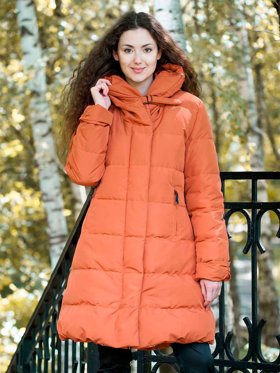 Joutsen пуховик Erica жженый апельсин - Фото 1