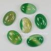Кабошон овальный Агат Зеленый, 25х18 мм