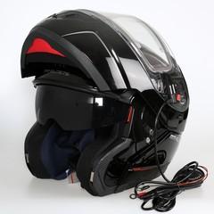 Шлем-модуляр - MT Atom Black - с подогревом стекла
