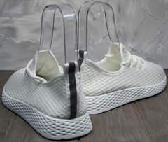 Белые модные кроссовки женские Small Swan NB283-2 All White.