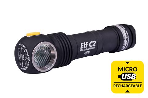 Мультифонарь светодиодный Armytek Elf C2 Micro-USB+18650, 980 лм, теплый свет, аккумулятор*