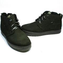 Зимние ботинки из натуральной кожи мужские Ikoc 1617-1 WBN.