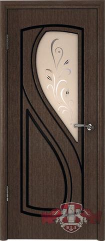 Дверь Владимирская фабрика дверей Грация 10ДО4, цвет венге, остекленная