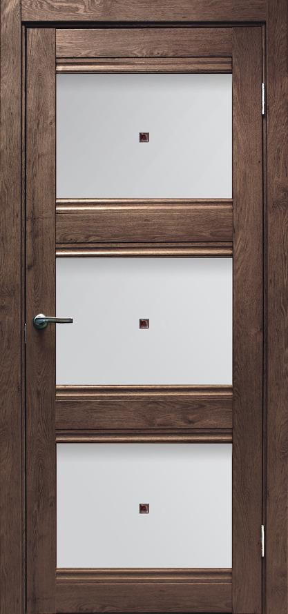 Альфа ПО, Дуб шоколадный, Дверь межкомнатная, Дубрава-Сибирь
