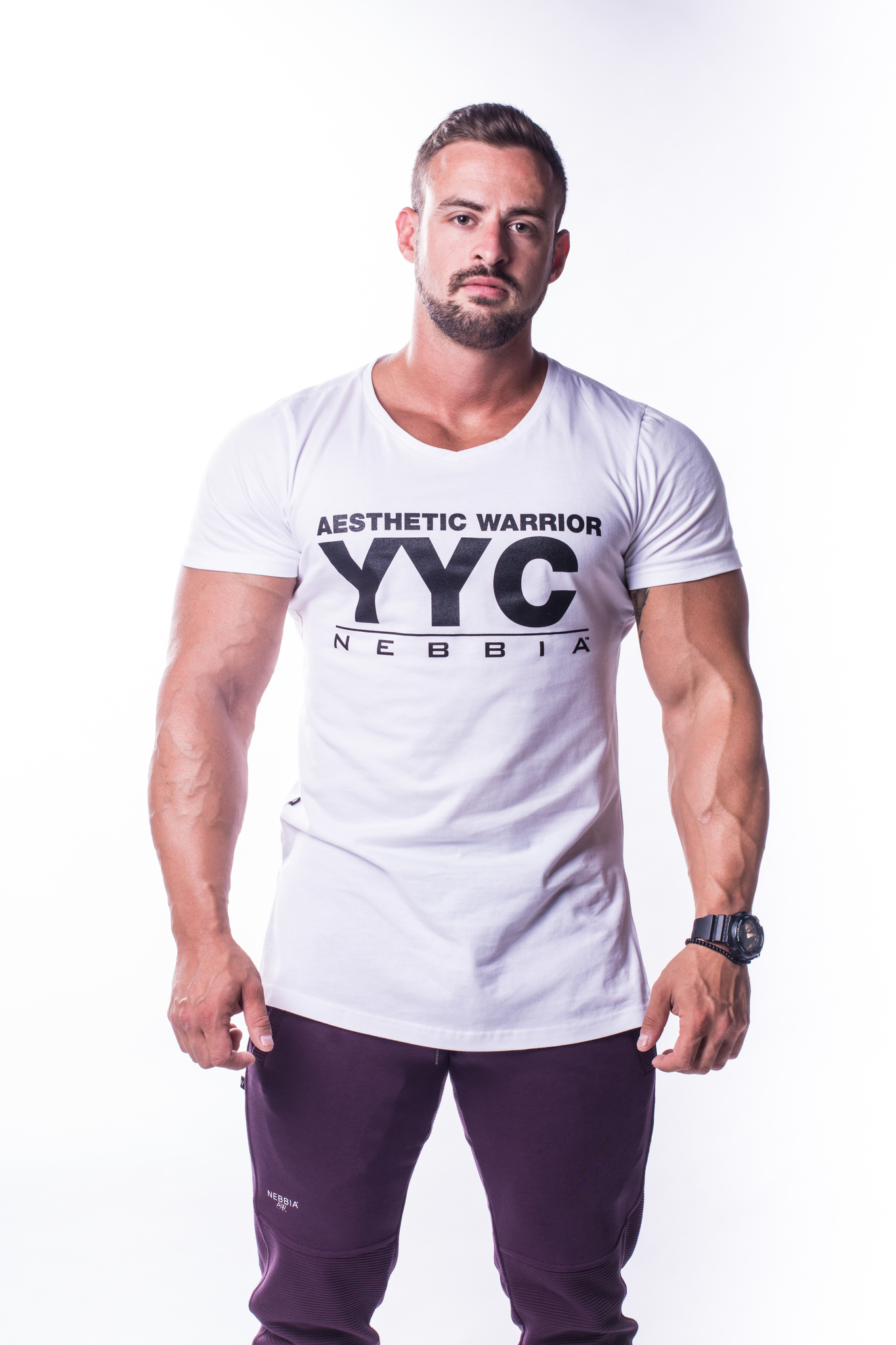 Мужская футболка Nebbia Athletic Logo T-Shirt 730 white