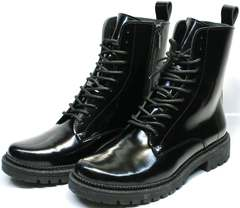Теплые ботинки из натуральной кожи женские Ari Andano 740 All Black.