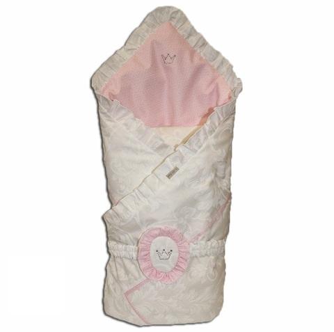 Конверт на выписку зимний Angelica розовый