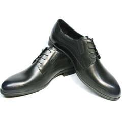 Классические туфли мужские Ikos 3416-4 Dark Blue.