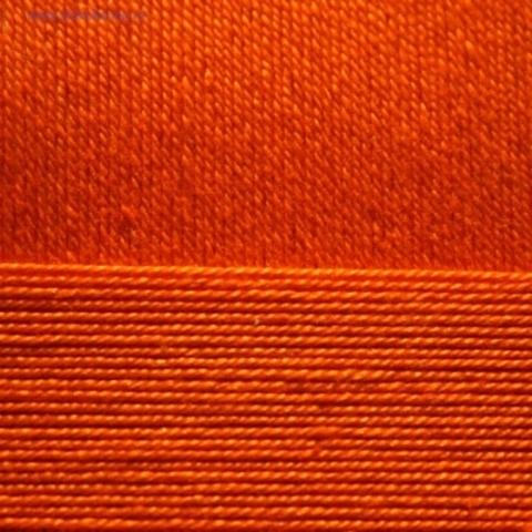 Пряжа Хлопок натуральный (Пехорка) оранжевый 284