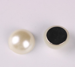 Магнит для платка белый жемчужина (магнитная брошь) mg-23-1