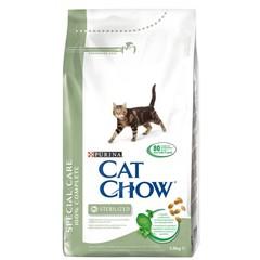 Cat Chow Sterilised для взрослых стерилизованных кошек и кастрированных котов, птица