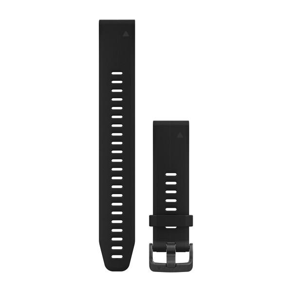 Силиконовый ремешок Garmin QuickFit 20 мм черный, большой