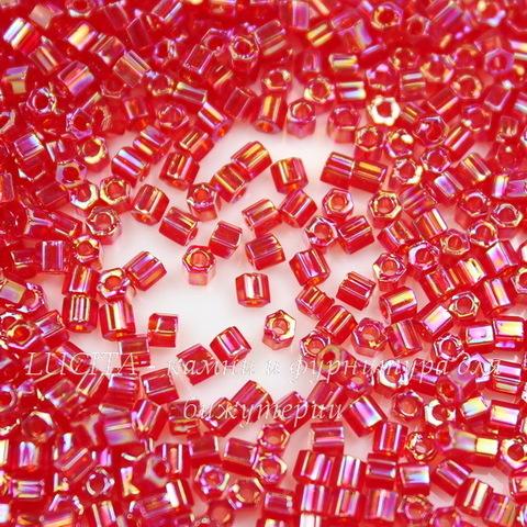 0165B Бисер японский TOHO Hexagon (шестиугольный) 11/0, радужный красный рубин
