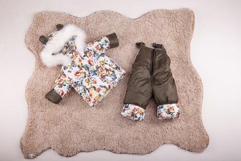 Зимний комбинезон с курткой детский Look для девочки