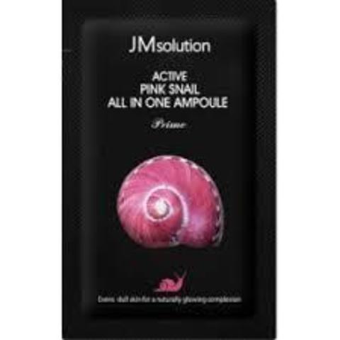 Регенерирующая Тканевая Маска С Муцином Улитки JM SOLUTION Active Pink Snail Brightening Mask Prime