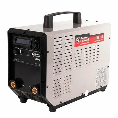 Аппарат электродной сварки, инвертор QUATTRO ELEMENTI E 330 (320 А, ПВ 100%, до 6 мм, Дисплей, TIG-Lift, 15 кг, 3ф-400В)
