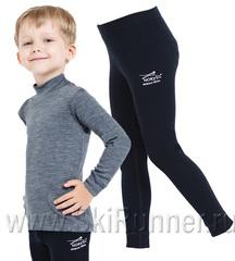 Комплект термобелья из шерсти мериноса Norveg Soft City Style Gray-Black детский