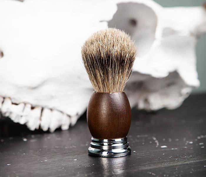 RAZ451 Помазок из барсука с деревянной рукояткой фото 02