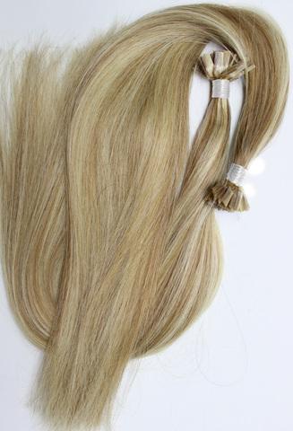 Волосы на плоских кератиновых капсулах,цвет 18-613( 2 КЛАСС)-50 СМ-100шт