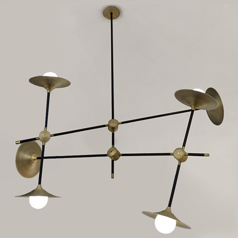 chandelier  DISC TURBAYA SS-6 CHANDELIER by Intueri Light