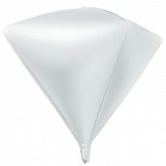 Шар (27''/69 см) Алмаз, Белый, 1 шт.