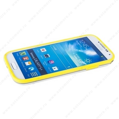Бампер GRIFFIN для Samsung Galaxy S4 i9500/ i9505 желтый с прозрачной полосой