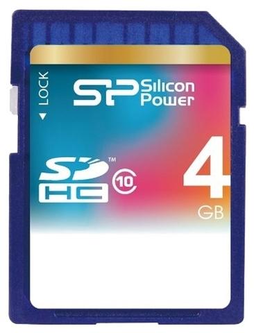 Карта памяти Silicon Power SDHC 4 Gb Class 4