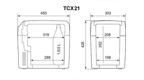 Термоэлектрический автохолодильник Dometic Waeco TropiCool TCX-21 (20л.) 12/24/230В