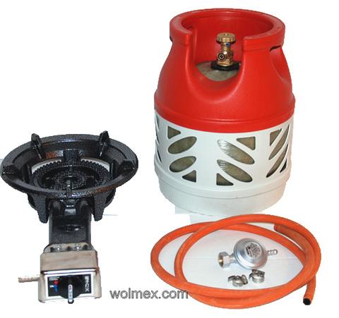 Комплект 31. Горелка газовая Wolmex KGS-8,5R1 с композитным баллоном и редуктором EN61 - Shell