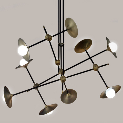 chandelier  DISC TURBAYA SS-9 CHANDELIER by Intueri Light