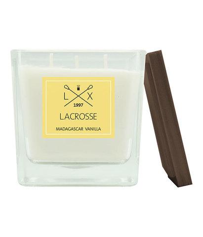 Свеча ароматическая в стекле Мадагаскарская ваниль квадратная большая, Ambientair
