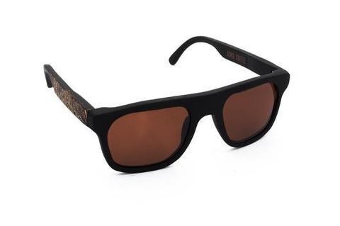 Очки солнечные из кофе OCHIS Biker (Коричневые линзы)