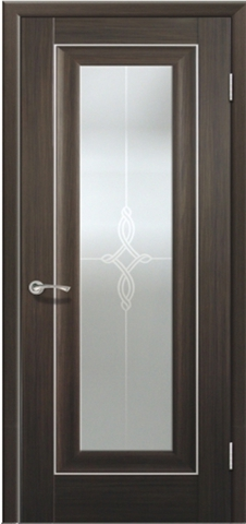 Дверь №24Х стекло узор (натвуд натинга, остекленная экошпон), фабрика Profil Doors