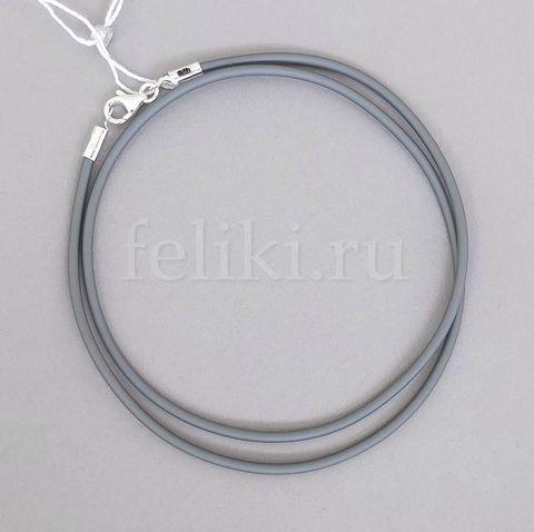 шнурок из каучука с серебром 3-02