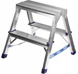 Лестница-стремянка двухсторонняя алюминиевая, СИБИН