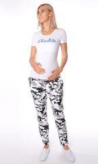 Евромама. Брюки для беременных полуспортивные, ем 3039 хаки серый, размер 48