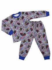BK921PJ-1 пижама для мальчиков, серая