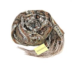 Шарф коричневых оттенков 3 в Русском стиле