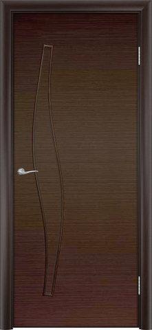 Дверь Сибирь Профиль Волна (С-10), цвет венге 3D, глухая