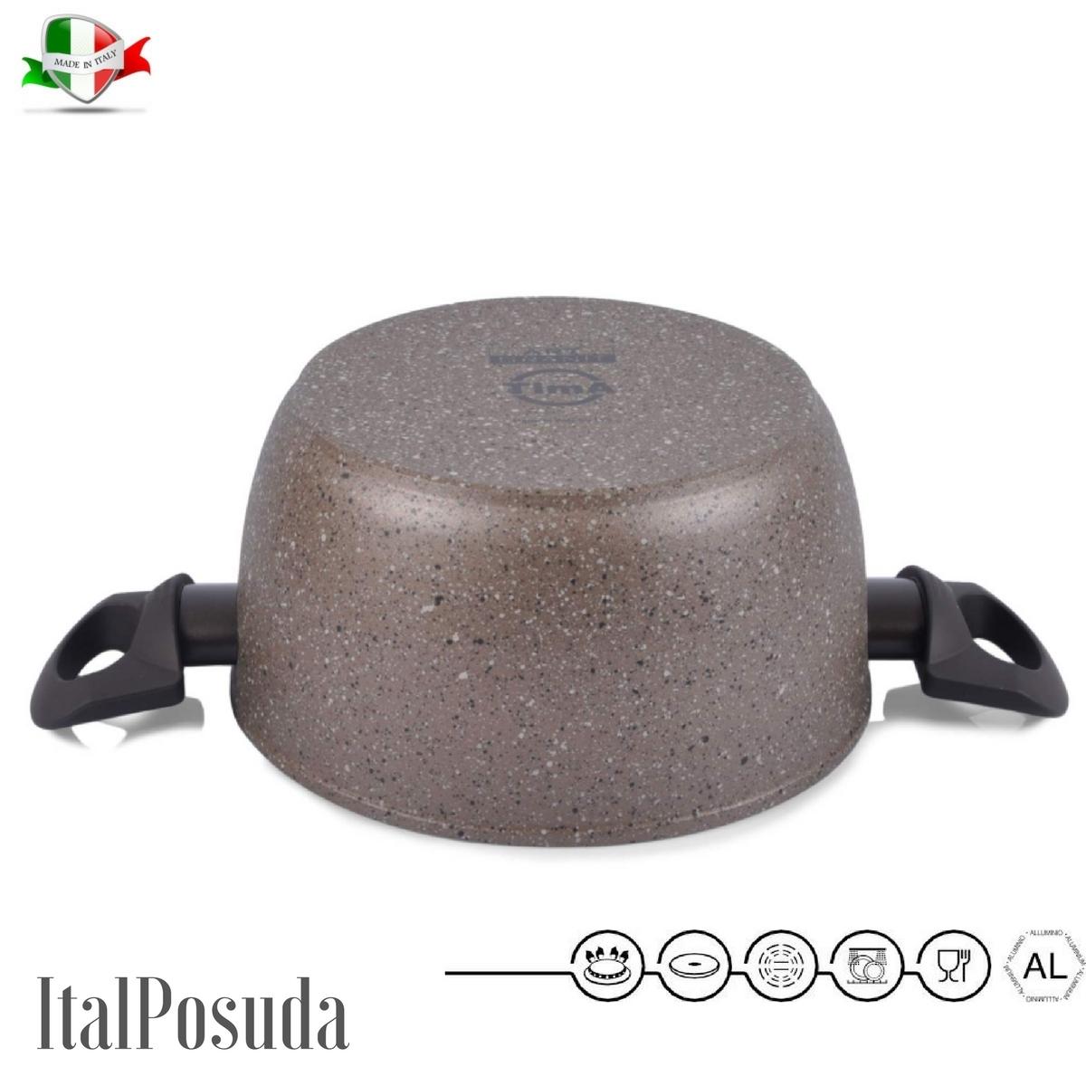 www.ital-posuda.ru. Кастрюля TIMA Art Granit индукционная 20 см /2,5 литра